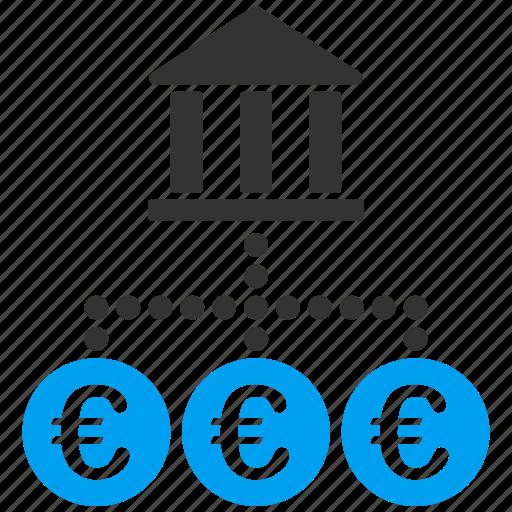 bank, euro, european, links, network, tax, transactions icon