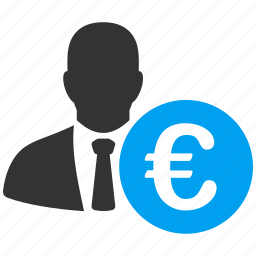 banker, businessman, earn, euro, investor, rich, salary icon