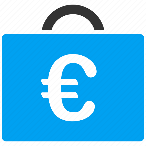 bag, bookkeeping, case, euro, european, luggage, shopping icon