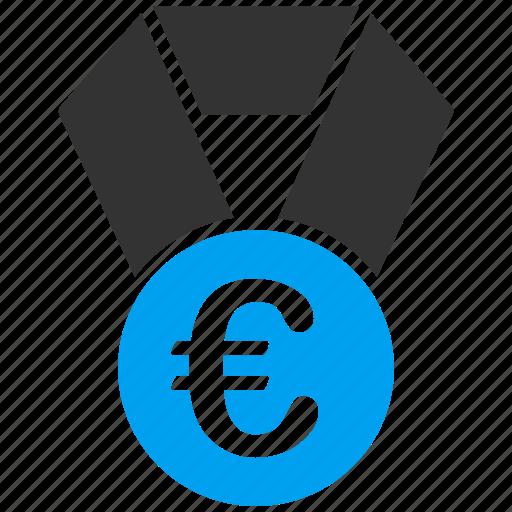 badge, champion, euro, european, medal, prize, win icon
