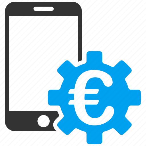 bank, configure, euro, european, mobile, smartphone, system icon
