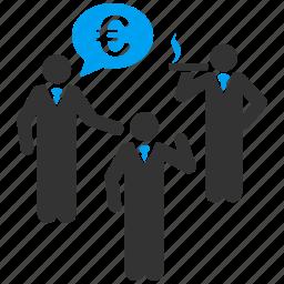 discuss, euro, european, people, speak, talking, users icon