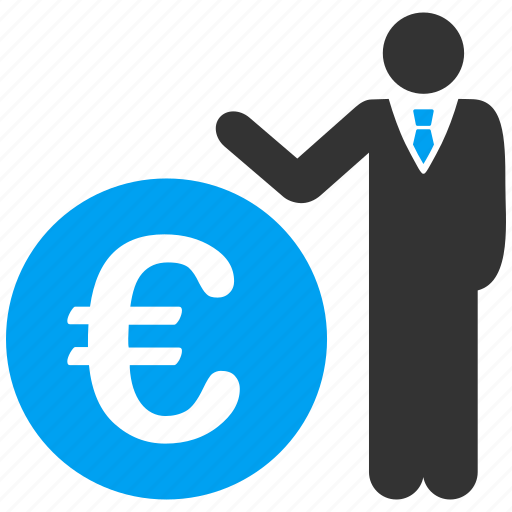 banker, economist, euro, european, invest, investment, manager icon