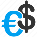cash, currency, dollar, euro, european, finance, money icon