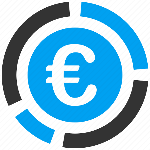 chart, diagram, euro, european, financial, graph, report icon
