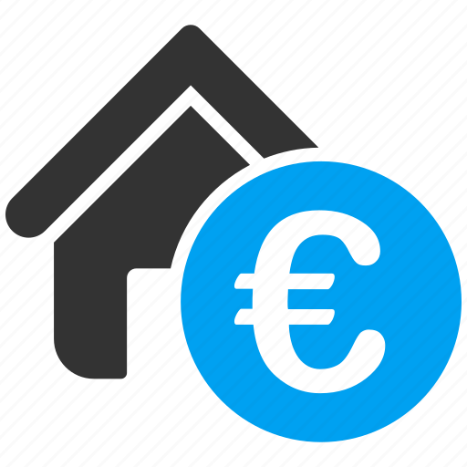 euro, european, home, house, mortgage, rent, sale icon