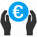 euro, european, finance, hands, insurance, invest, rich icon