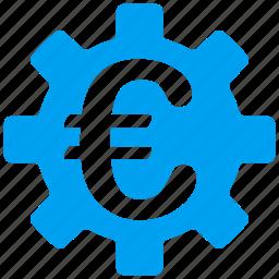 euro, european, gear, machinery, options, settings, wheel icon