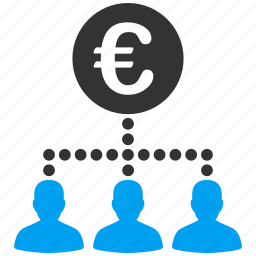 clients, customers, euro, european, payment, relations, staff icon