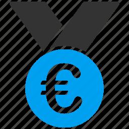 achievement, award, best, euro, european, medal, prize icon