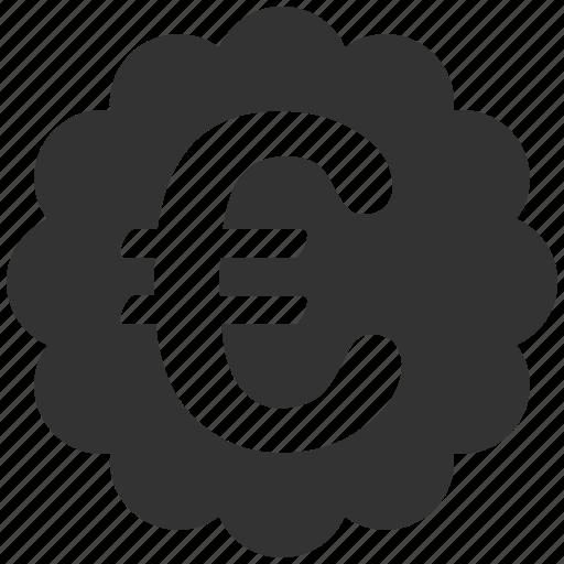 certified, eur, euro, european, quality, seal, stamp icon