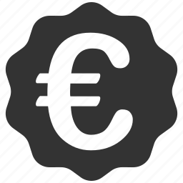 award, badge, eur, euro, european reward, seal, stamp icon