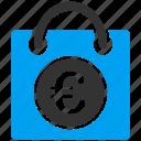 bag, euro, european, handbag, market, sale, shopping icon