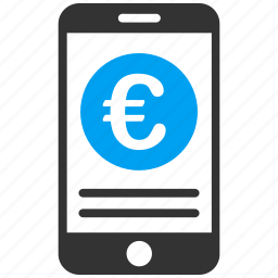 euro, european, iphone, mobile bank, options, phone, smartphone icon