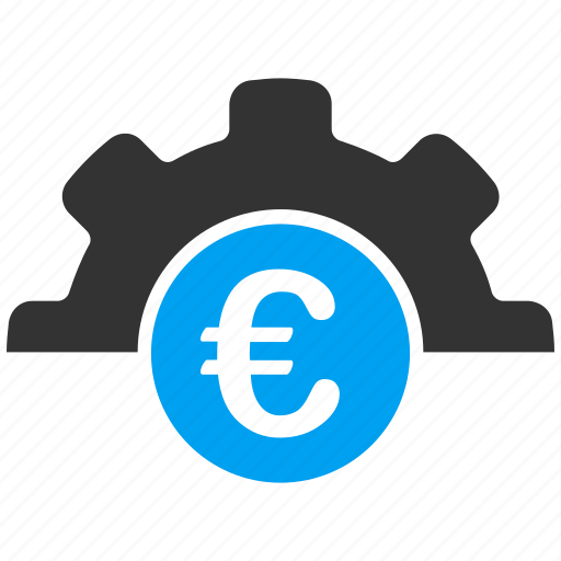 capital, equipment, euro, european, industry, machinery, technology icon