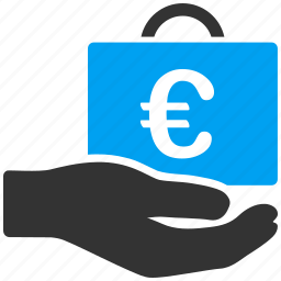 accounting, business, commerce, euro, european, payment, service icon