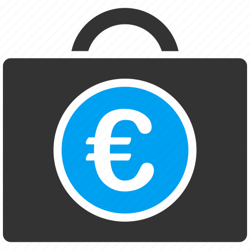 accounting, bookkeeping, business, case, commerce, euro, european icon