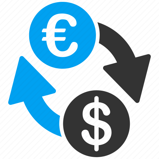 business, currency exchange, dollar, euro, european, finance, money icon