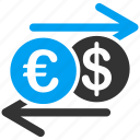 business, change, commerce, currency exchange, euro, european, transaction icon