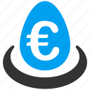 bank deposit, business, commerce, euro, european, invest, storage icon