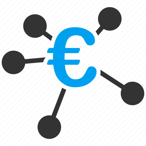 bank network, business, commerce, connections, distribution, euro, european icon