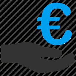 commerce, donation, euro, european, income, salary, shopping icon