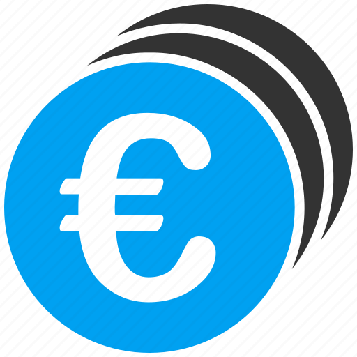 cash, commerce, currency, euro, european, finance, gold coins icon