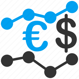 business, commerce, euro, european, financial report, market trends, sale chart icon