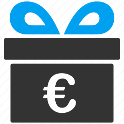 business, euro, european, free, gift, present, prize icon