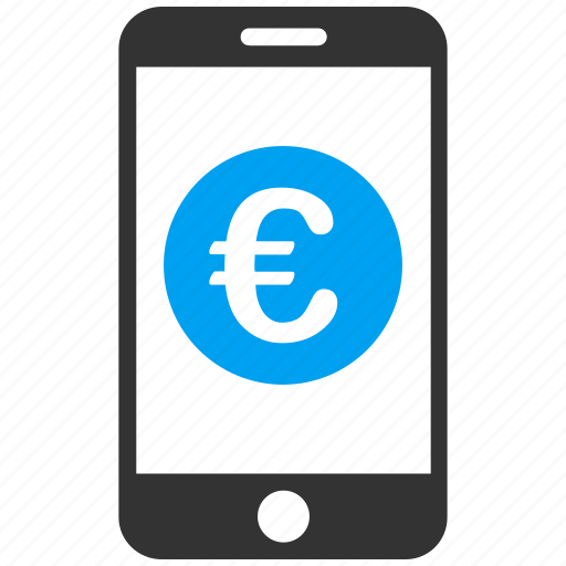 bank, business, commerce, communication, euro, european, mobile banking icon