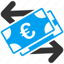 business, commerce, euro, european, finance, money exchange, payment icon