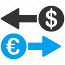 business, commerce, euro, european, money exchange, payment, transactions icon