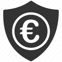 business, commerce, euro, european, protection, secure, security icon