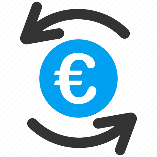 balance, business, euro, european, money turnover, payment, refresh icon