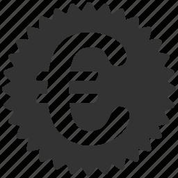 business, commerce, euro, european, reward, seal, stamp icon