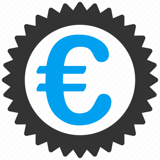 business, commerce, euro, european, reward, sertified, stamp icon