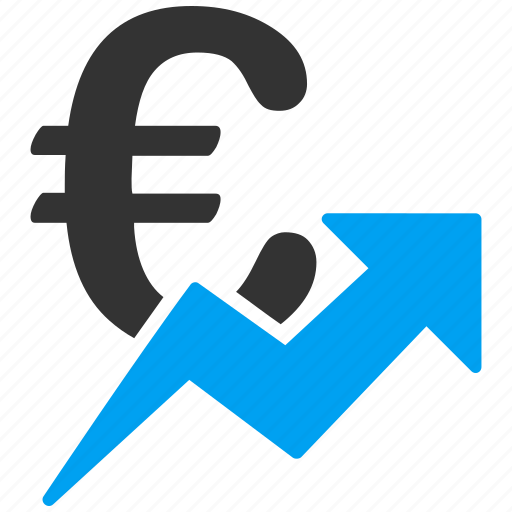 business, commerce, euro, european, financial, growth, sales chart icon