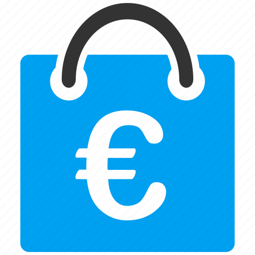 commerce, euro, european, finance, sale, shopping bag, trade business icon