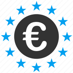 business, commerce, eu zone, euro, europe, european state, union stars icon