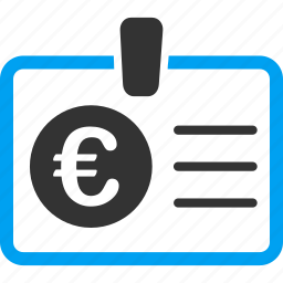 access, account, authorize, badge, card, euro, european icon