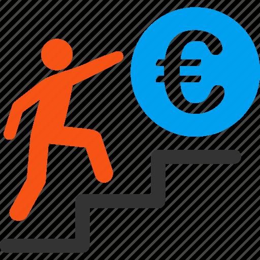 achievement, business, euro, european, job, success, work icon