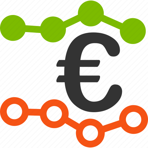 chart, euro, european, graph, report, statistic, trends icon