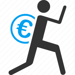 business, courier, delivery, euro, european, finance, money icon