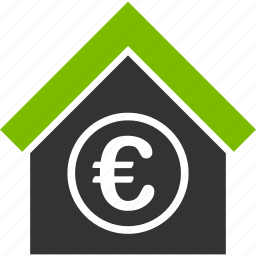 bank building, euro, european, finance, financial center, money icon