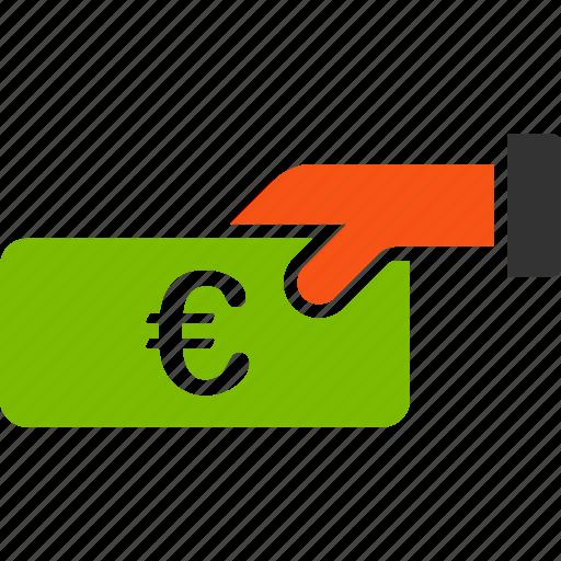 euro, european, gain, income, money, payment, profit icon