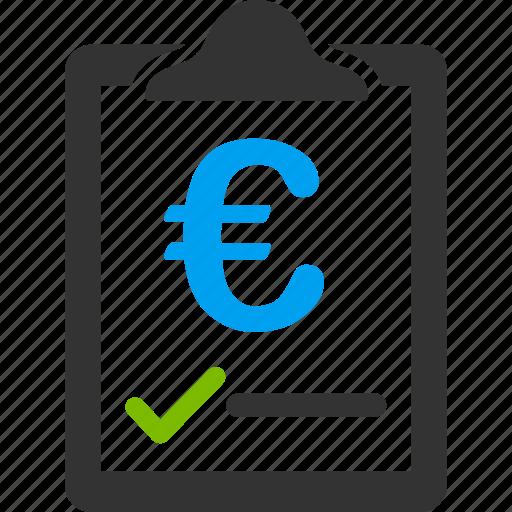 agreement, commercial, contract, euro, european, money, price icon