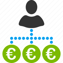 business, collector, euro, european, marketing, payer, payment icon