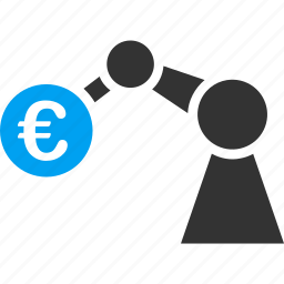 euro, european, industrial, manipulator, robot, robotic, technology icon