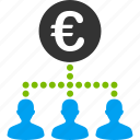 customers, euro, european, group, staff, team, users icon