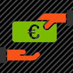 discount, euro, european, pay, payment, profit, rebate icon